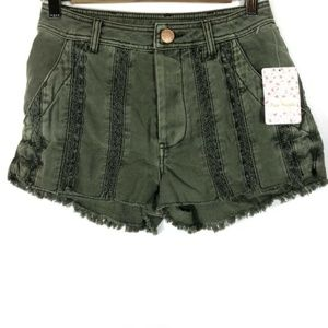 NWT Free People Great Expectations Denim Shorts